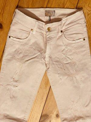MET Jeans skinny rosa pallido Cotone