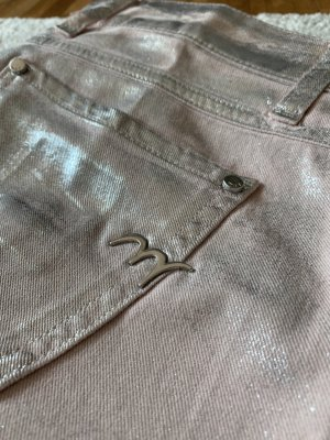 MET Jeans skinny rosa pallido-argento