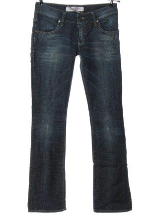 MET Jeans a zampa d'elefante blu stile casual
