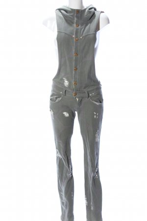 MET Dungarees khaki-light grey allover print casual look