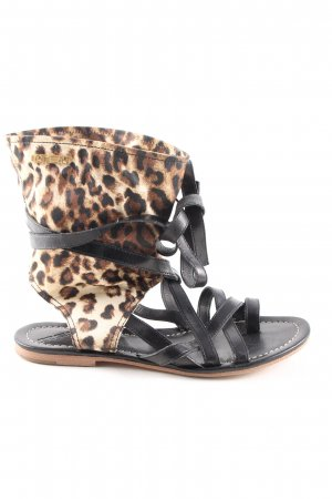 MET Strapped Sandals leopard pattern casual look