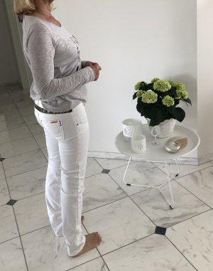 MET Jeans cigarette blanc coton