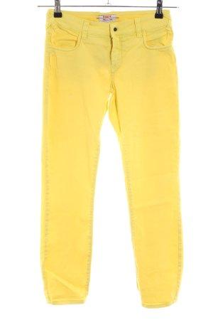 MET Slim Jeans blassgelb Casual-Look