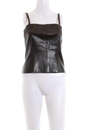 MET Top con bretelline nero-marrone stile casual