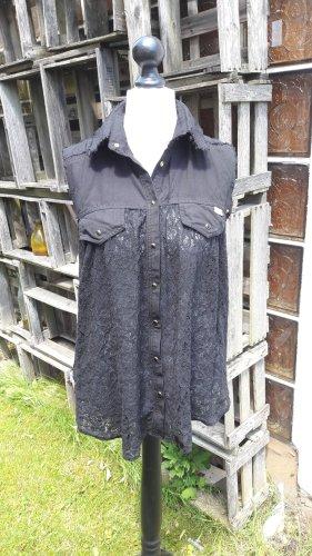 MET Jeansowa koszula czarny Bawełna