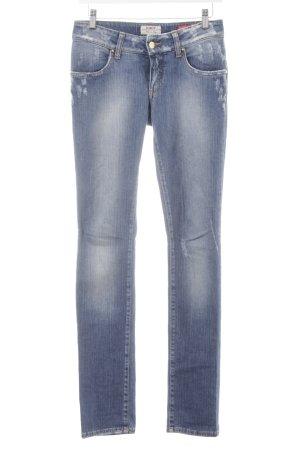 MET Straight-Leg Jeans blau Destroy-Optik