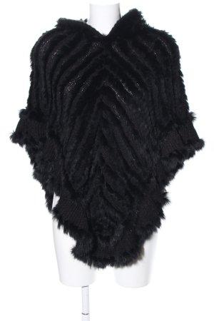 MET Poncho en tricot noir style décontracté