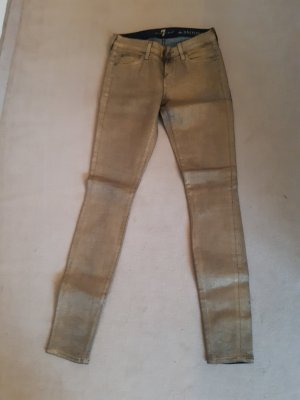 Metal Golden Jeans 7 for All Mankind size 36