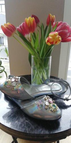 Metallic Ballerinas 3D Blumen