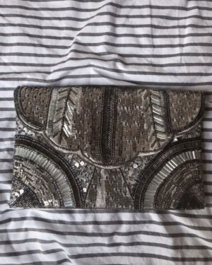 Asos Clutch silver-colored-gold-colored