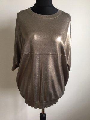 COS Sweater met korte mouwen zilver-roségoud Viscose