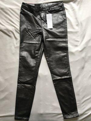 Metallic Look Jeans