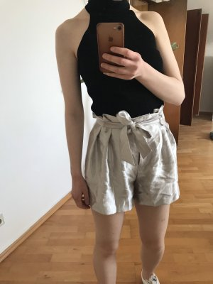 Metallic shorts Zara Silber
