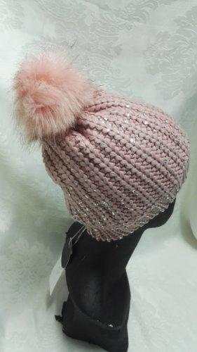Cartoon Cappellino bianco sporco-rosa antico