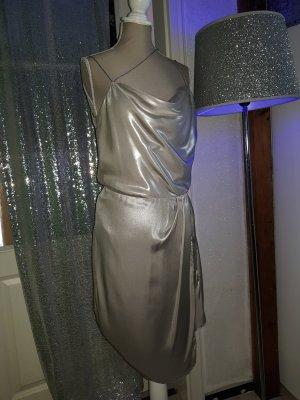 metallisch silbernes Trägerkleid von h&m, neu gr.s