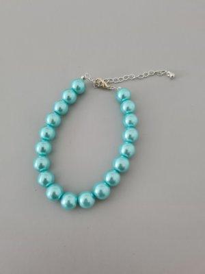 Vintage Bransoletki z perłami srebrny-turkusowy