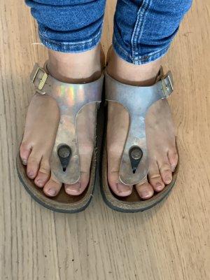 Birkenstock Sandały japonki z rzemykami brąz