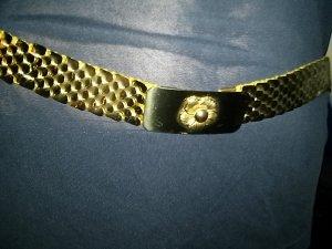 Metallschuppengürtel gold-metallschliesse gold und 2. Schliesse gold/rot/schwarz