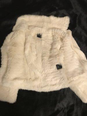 Yves salomon Giacca in pelliccia bianco-bianco sporco Pelliccia