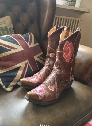 Mexicana Boots Western Stiefel 37 (38) braun pink Old Gringo