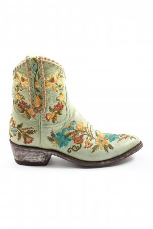 mexicana Western Booties allover print elegant