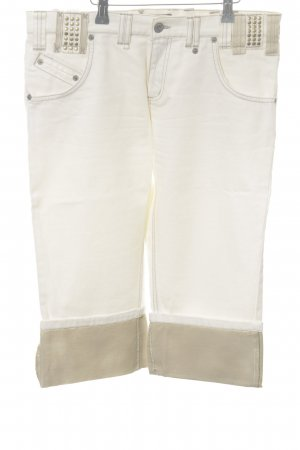 Mexx 3/4 Jeans wollweiß-goldfarben Casual-Look