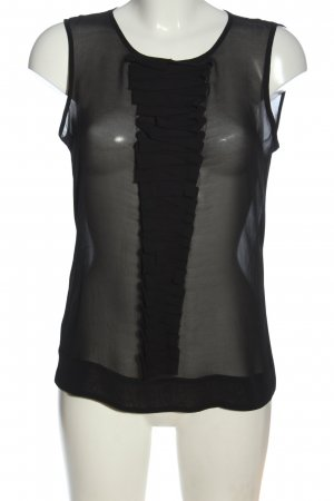Mexx ärmellose Bluse schwarz Casual-Look