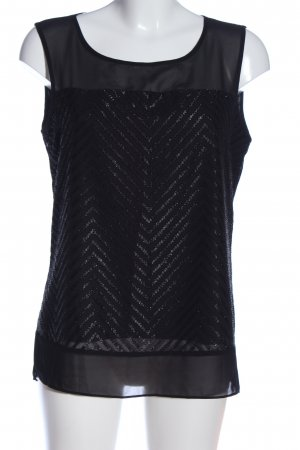 Mexx ärmellose Bluse schwarz grafisches Muster Elegant