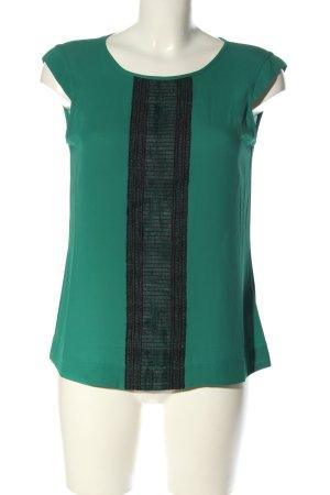 Mexx ärmellose Bluse grün-schwarz Casual-Look