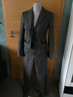 Mexx Business Suit black-dark grey wool