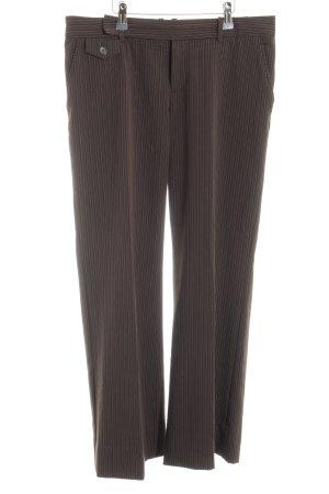 Mexx Pantalon de costume brun motif rayé style décontracté