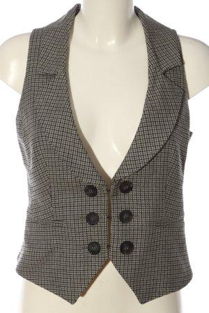 Mexx Gilet de costume gris clair-noir motif à carreaux style d'affaires