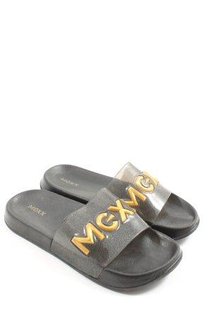Mexx  nero-arancione chiaro puntinato stile casual