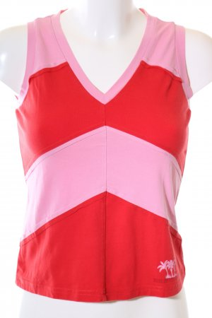 Mexx Basic topje rood-roze gestreept patroon casual uitstraling