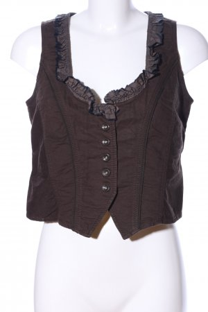 Mexx Biker Vest brown casual look