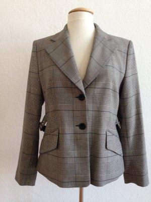 Mexx Blazer, Business Blazer, schwarz-weiß, Glencheckmuster klassischer Stil, Gr. 38
