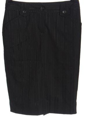 Mexx Bleistiftrock schwarz Streifenmuster Business-Look