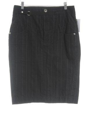 Mexx Bleistiftrock schwarz-weiß Nadelstreifen Casual-Look