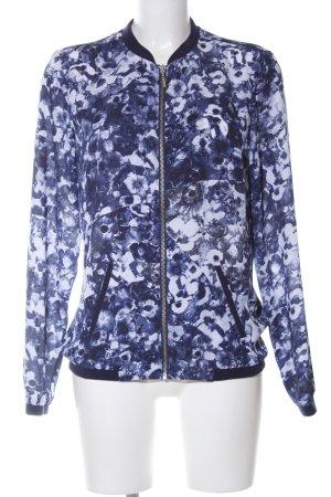 Mexx Blouson blau-weiß Blumenmuster Casual-Look