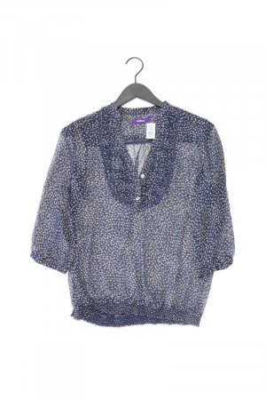 Mexx Bluse blau gepunktet Größe 40