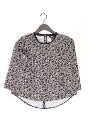 Mexx Bluse Größe 34 geometrisches Muster 3/4 Ärmel schwarz aus Polyester