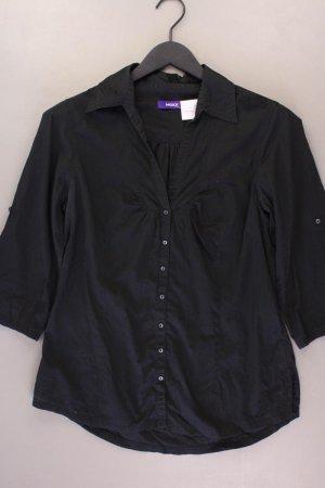 Mexx Bluse Größe 40 3/4 Ärmel schwarz aus Baumwolle