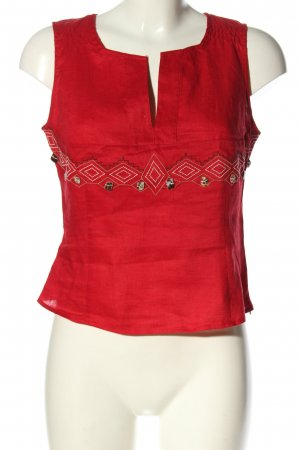 Mexx Blouse topje rood grafisch patroon casual uitstraling
