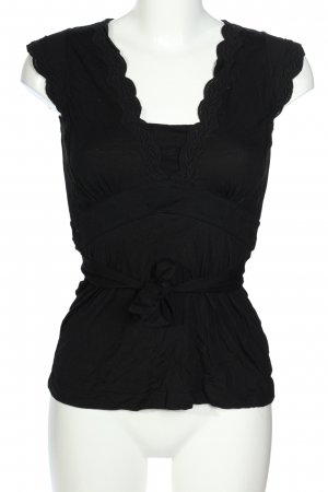 Mexx Blouse topje zwart zakelijke stijl