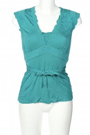 Mexx Blouse topje turkoois casual uitstraling