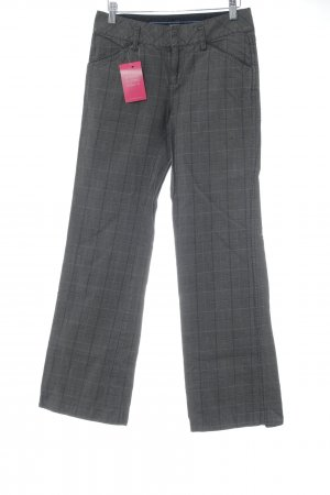 Mexx Boot Cut Jeans dunkelgrau Glencheckmuster Business-Look