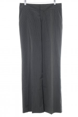 Mexx Bundfaltenhose schwarz-weiß Business-Look