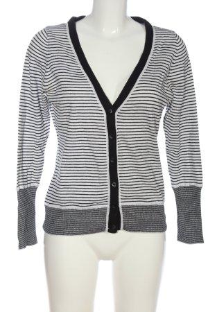 Mexx Cardigan schwarz-weiß Streifenmuster Business-Look