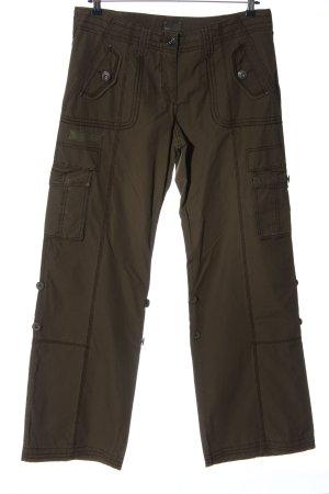 Mexx Pantalón de camuflaje marrón look casual