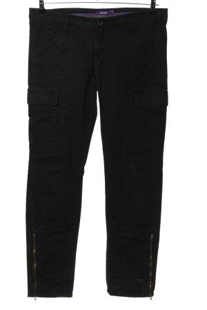 Mexx Pantalon cargo noir style décontracté